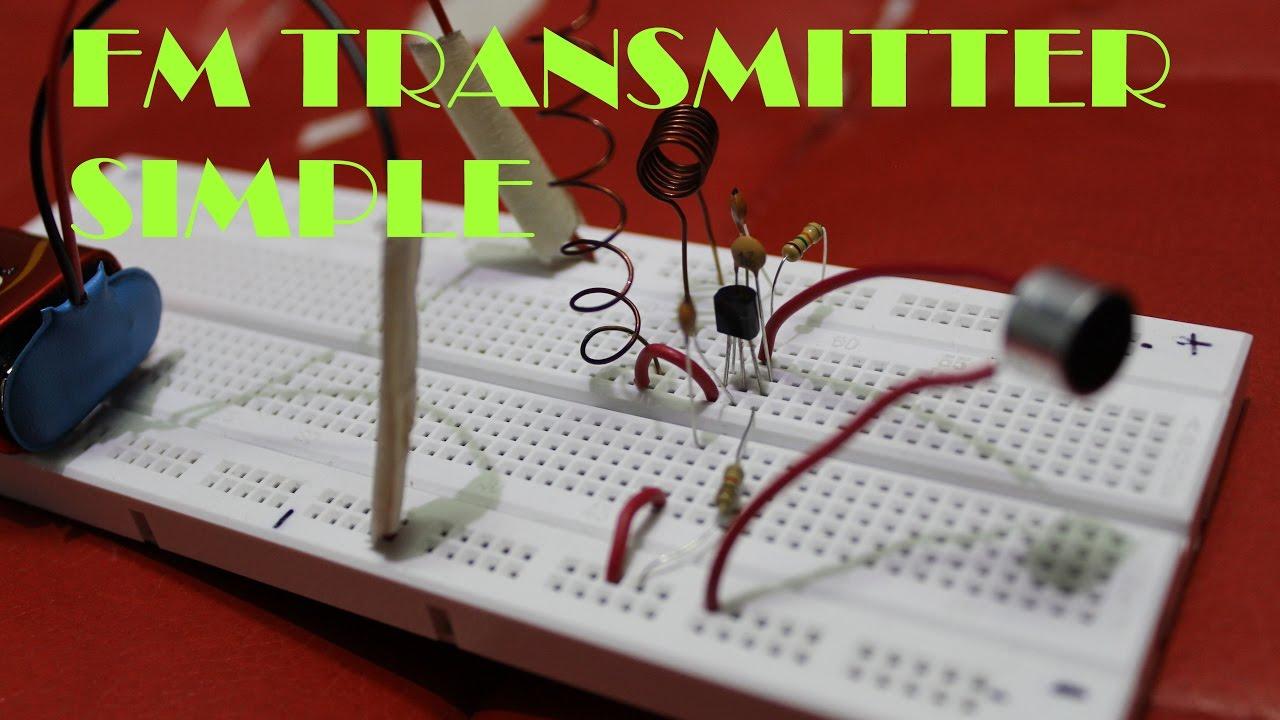 fm transmitter homemade simple project 50m range [ 1280 x 720 Pixel ]