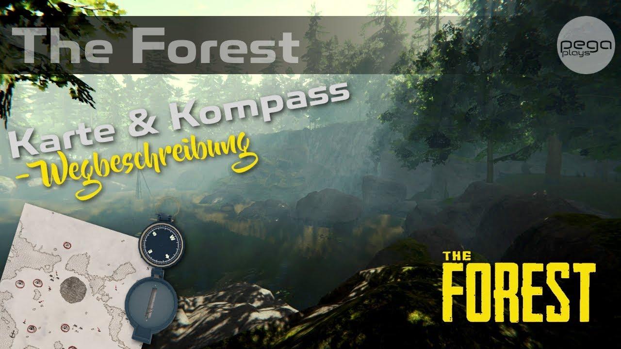 The Forest Karte Höhlen.Karte Und Kompass Finden Wegbeschreibung The Forest Pegaplays 38