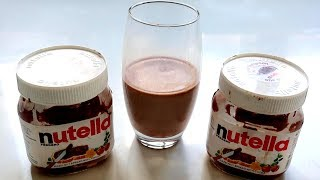How to make Chocolate milk drink from Nutella jar