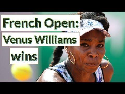 French Open: Venus Williams wins, but Petra Kvitova's comeback ends