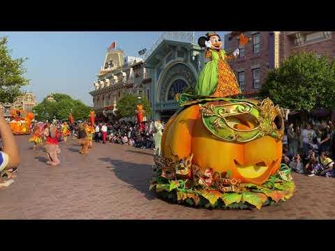 [4K]HongKong Disneyland Mickey and Friends Halloween streets party (21/9/2019)