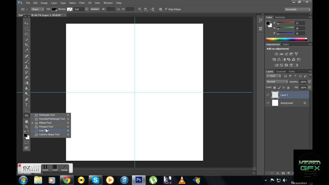 How To Create a perfect Circle on Photoshop CS6 - YouTube