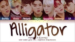 Monsta X  몬스타엑스  - Alligator  Color Coded Lyrics Eng/rom/han/가사