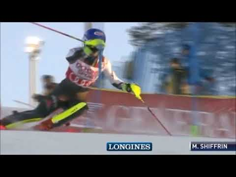 Mikaela Shiffrin 1st run Levi Women's Slalom Alpine Skiing World Cup 2018 2019 @skiracingcoach