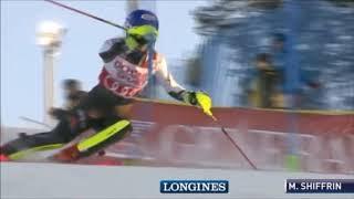 Mikaela Shiffrin 1st run Levi Women's Slalom Alpine Skiing World Cup 2018 2019 @skiracingcoach thumbnail
