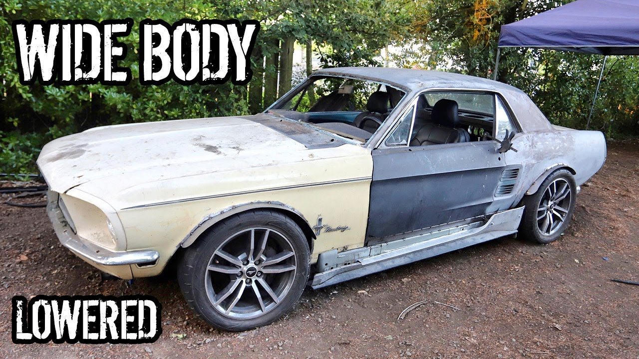 Oscars Mustang Gets Lowered And Custom Wide Fender Flares!