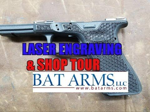 LASER ENGRAVING & SHOP TOUR AT BAT ARMS/2A LASER ENGRAVING