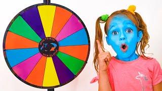 동요 와 어린이 노래 - 다양한 색의 음식 챌린지 마야와 메리