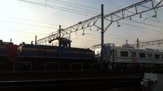 名鉄デキ600形+鶴舞線N3000形 連結作業