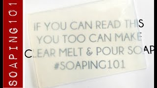 How to Make Clear Melt u0026 Pour Soap Base from Scratch