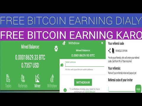 Bitcoin Miner Free Mining Apps Dialy 5$ Earning 2019