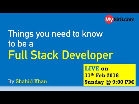 Full stack Developer: Things you need to know  | LIVE  (in Hindi)