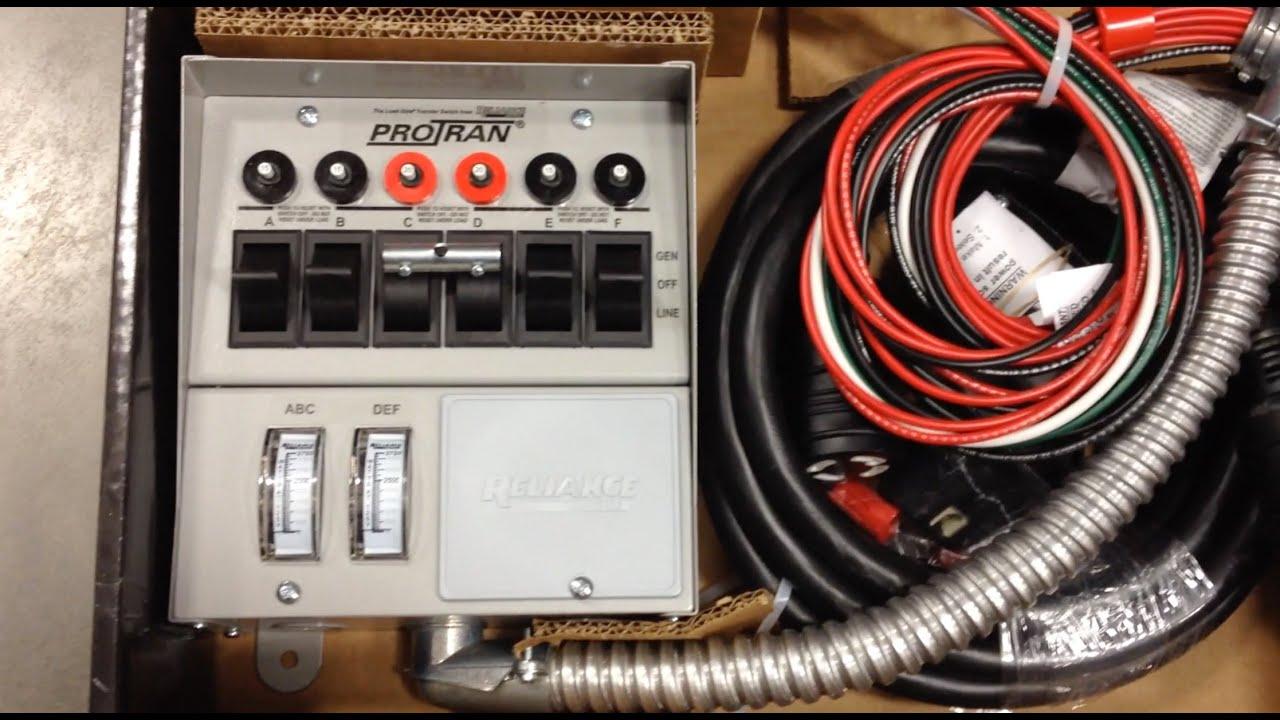 Pro Tran Generator Transfer Switch Wiring - House Wiring Diagram ...
