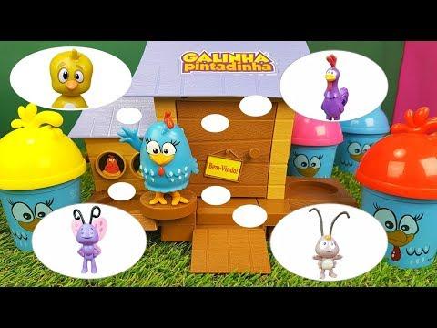 Procurando Pintinho Amarelinho Borboletinha Galo Carijó e Baratinha Com Galinha Pintadinha Toy Cake