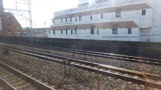 JR東日本E217系MT68 側面展望 市川→千葉(総武線快速) クラY-8編成