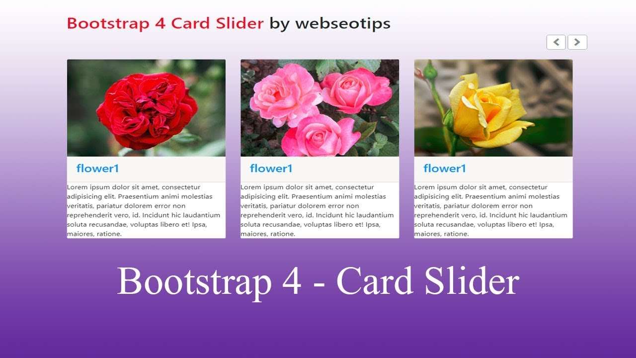 Bootstrap 4 card slider