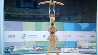 Repeat youtube video World Games 2009   Acrobatic Gymnastics   Team China