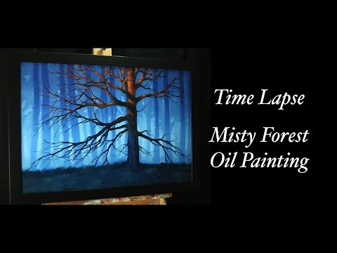 Misty Forest Oil Painting Time Lapse – A Touch Of Warm Light – With Tim Gagnon