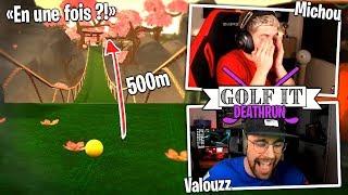 Mort de rire notre 1er Deathrun avec Michou et Dobby sur Golf It !!
