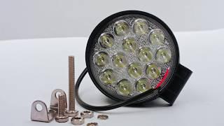 Огляд Світлодіодна фара робочого світла Allpin 42 Вт, 14 світлодіодів по 3 Вт Spot (6258S42C)