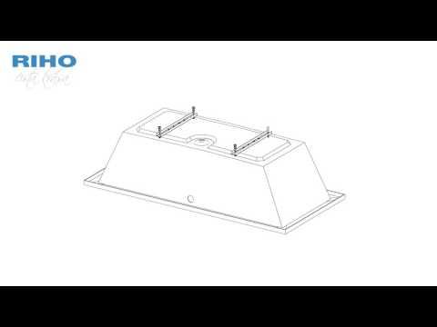 Монтаж акриловой ванны RIHO
