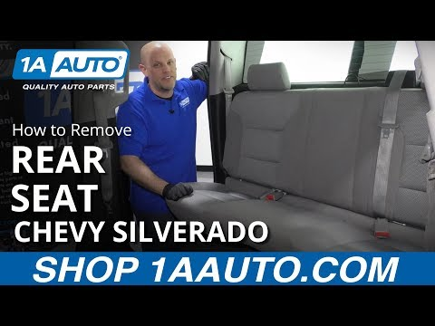 How to Remove Rear Seat 14-19 Chevy Silverado