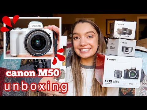 CANON M50 UNBOXING + review
