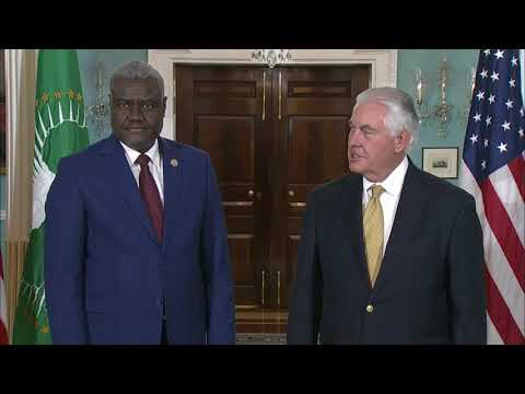 U.S. - Secretary Tillerson Meets With Moussa Faki, Chairperson of the African Union Commission