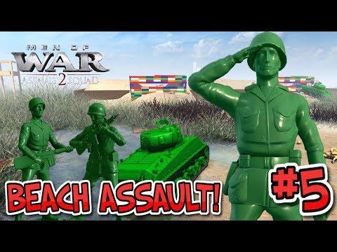 EPIC Toy Beach Assault ! Army Men Of War : Episode 5 : Leg-O-maha Beach