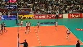 Russia vs Turquia  Final European Championship 2003 volleyball