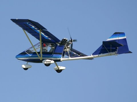 CGS Hawk Ultralight Aircraft learn to fly by Roy Dawson vide