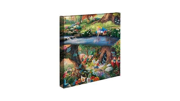 Thomas Kinkade Disney Gallery Wrap Wall Art - YouTube