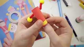 Marionette di carta per bambini da dito tutorial fai da te