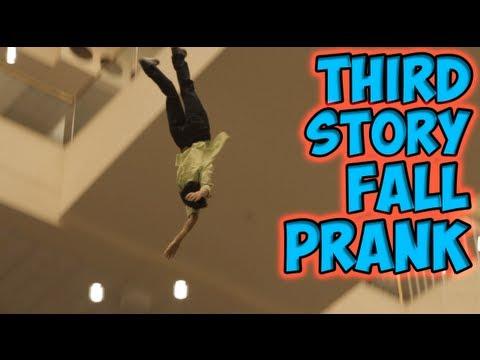 Third Story Fall Prank [MagicofRahat Prank]