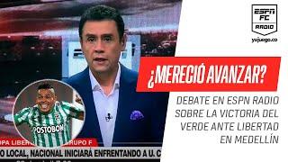 ¿#Nacional mereció la victoria ante #Libertad en la #Libertadores? PICANTE discusión en ESPN Radio