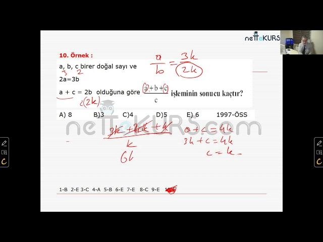 nettekurs.com Online TYT Kursu Matematik Dersleri - 3 / Oran - Orantı
