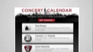Live Nation Concert Calendar Facebook App