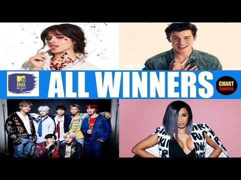 EMAs 2018 - ALL WINNERS | 2018 MTV European Music Awards Winners| Nov. 04, 2018 | ChartExpress