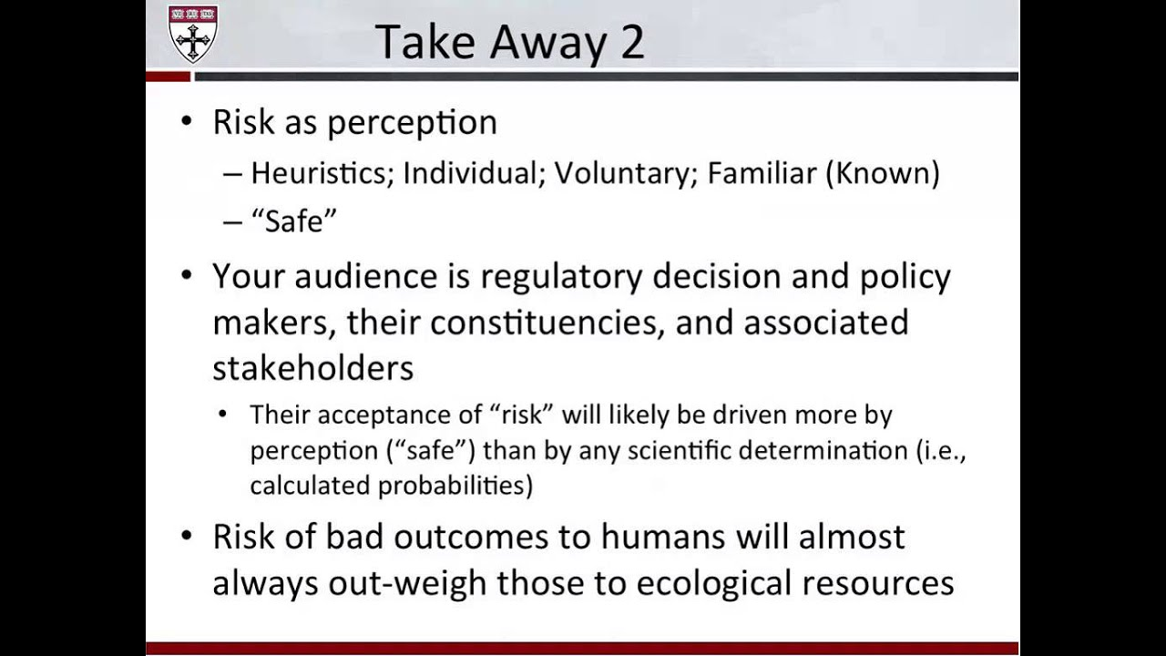 bruce hope 3 take home messages about risk assessment youtube rh youtube com