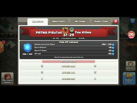 Clan War Legues-Day 6-Highlights At Patna PiraTes ❤️