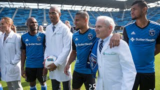 Reliving the Quakes jersey partnership announcement with Sutter Health