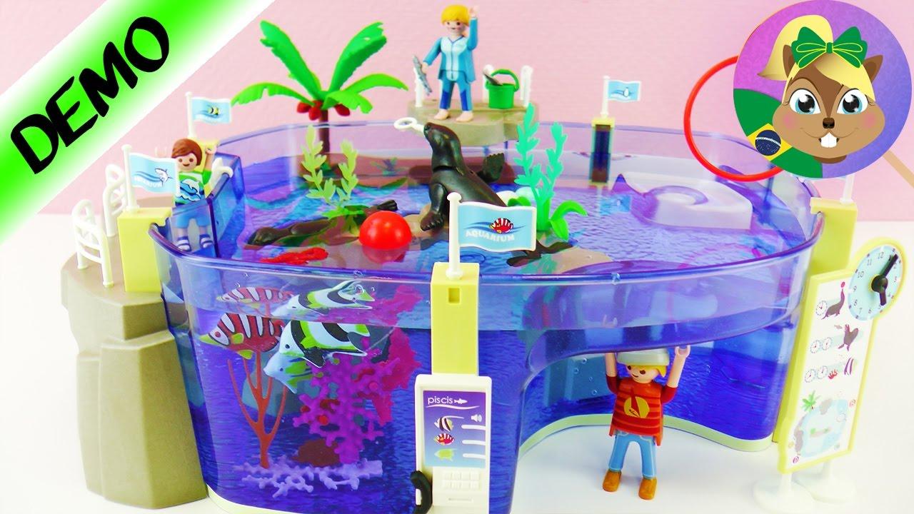 Playmobil aqu rio enorme family fun piscina com le o for Piscina playmobil
