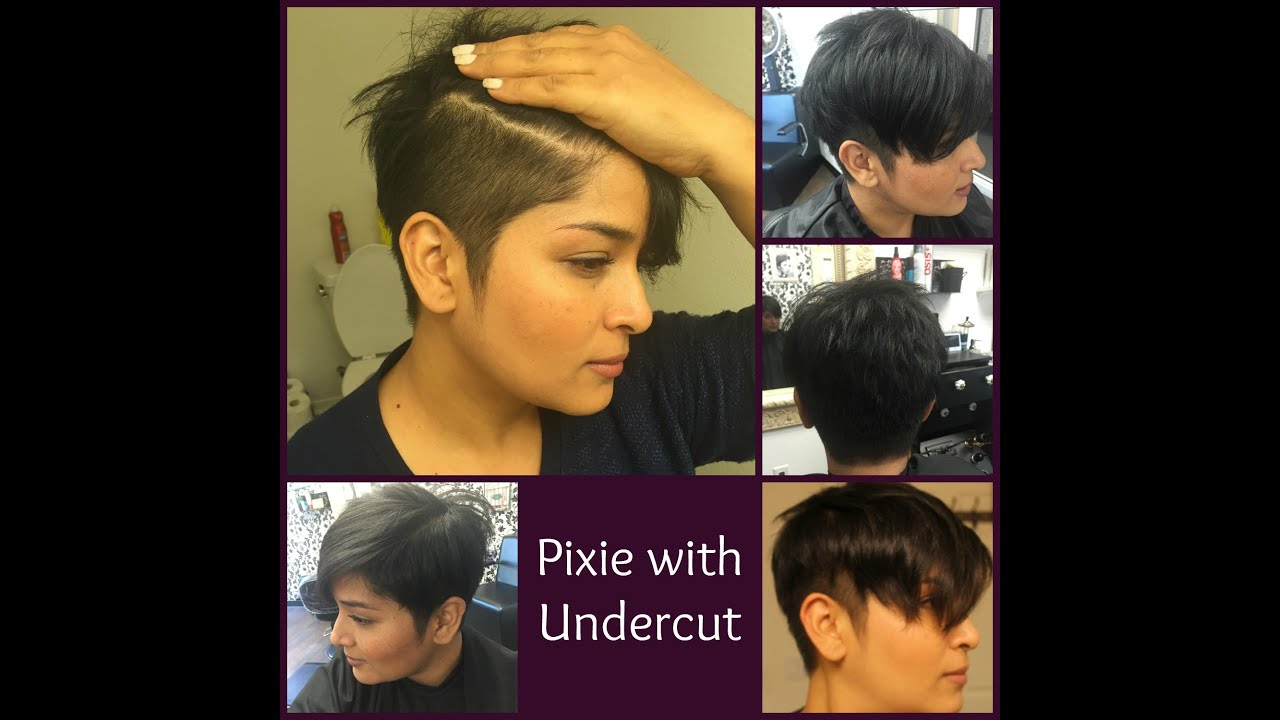 pixie diaries | pixie with undercut | for thick hair - youtube