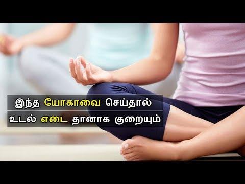 தொப்பையை குறைக்கும் யோகா   Flat Belly Yoga