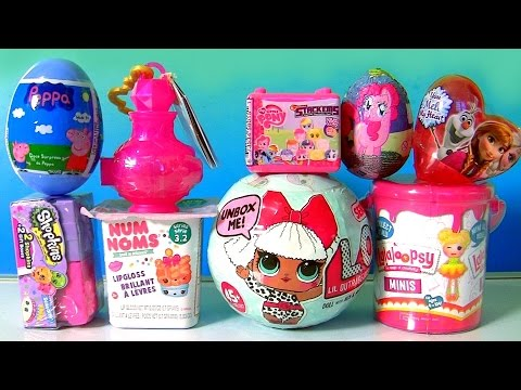 LOL Dolls Surprise TOYS Peppa Pig, NUM NOMS, Shopkins 7, Lalaloopsy Paint Can, Fashems Stackems