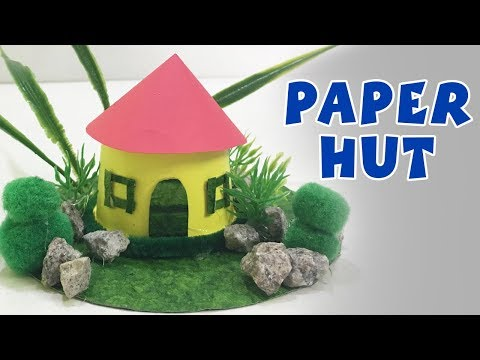 How To Make A Paper Hut | DIY Paper Crafts For Kids | Easy Paper Hut Making | DIY Ideas | Do Craft