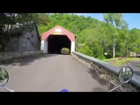 XT250 Dual Sport riding on Bucks County, PA backroads