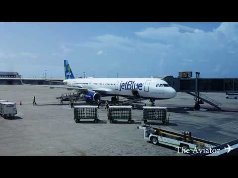 JetBlue Airways Kingston Jamaica to New York JFK [Full Flight] A321