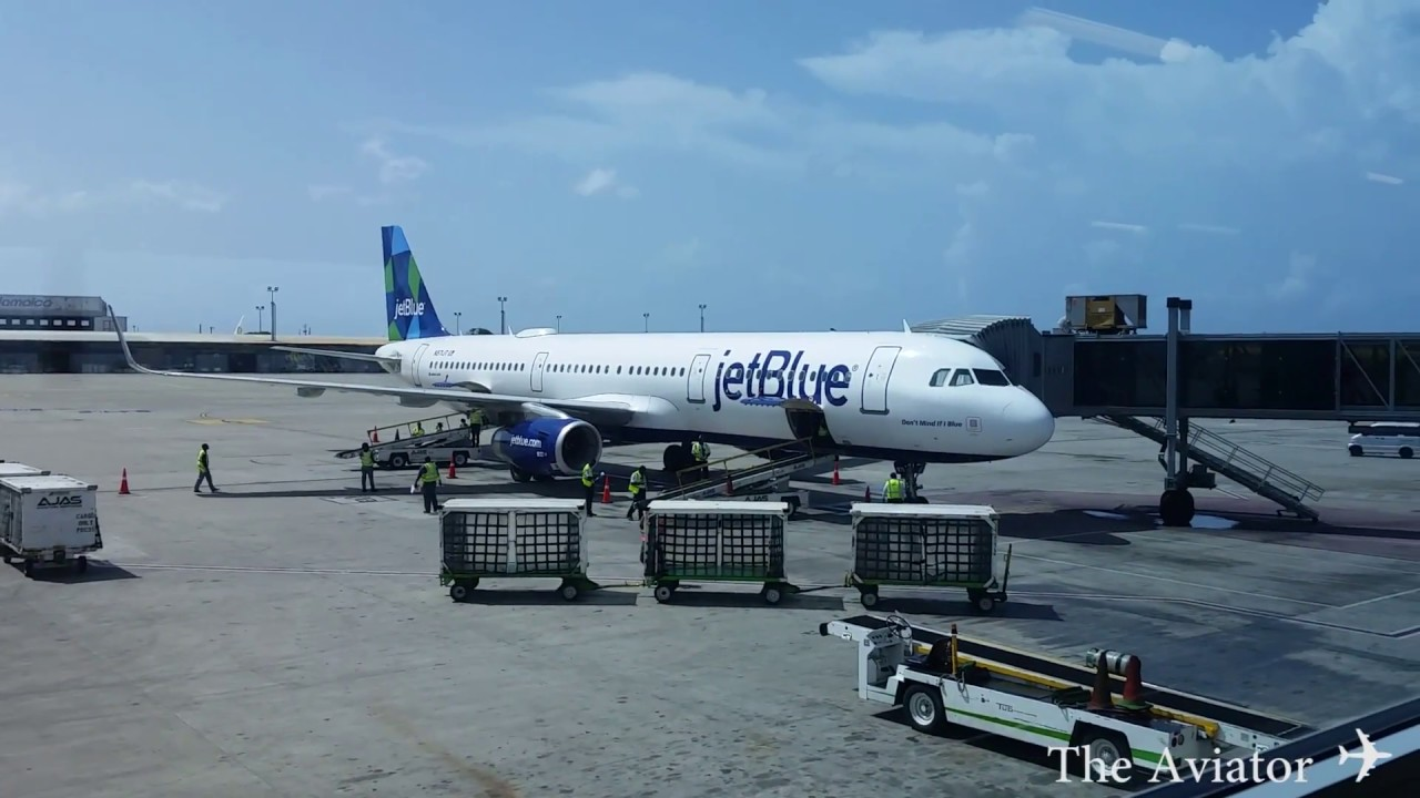 jetblue airways kingston jamaica to new york jfk full flight a321 youtube. Black Bedroom Furniture Sets. Home Design Ideas
