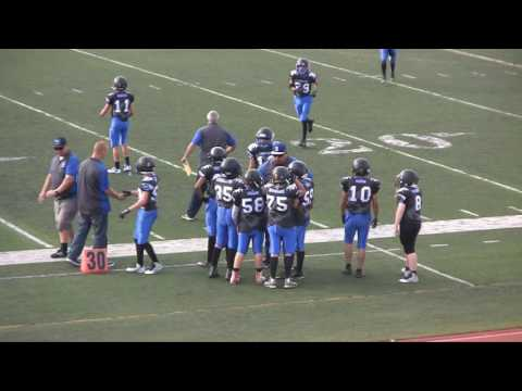 2016 JAAF PeeWee D1 Game 9 Beaumont Cougars vs Norco Cougars